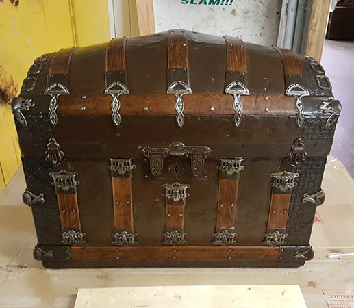 antique camel back trunk Antique Camel Back Trunk | Remarkable Refinishing antique camel back trunk